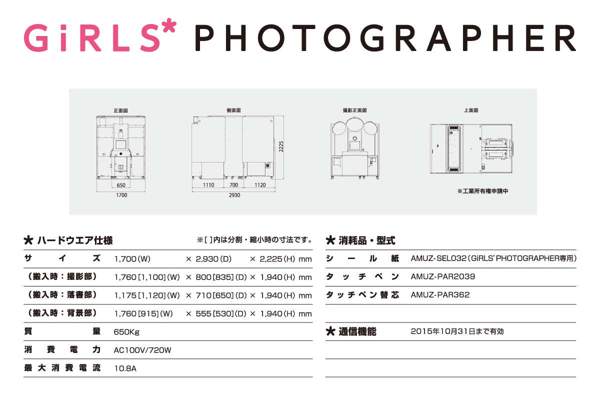 『GiRLS' PHOTOGRAPHER』仕様