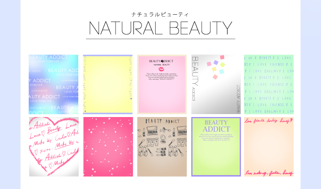 「NATURAL BEAUTY」背景