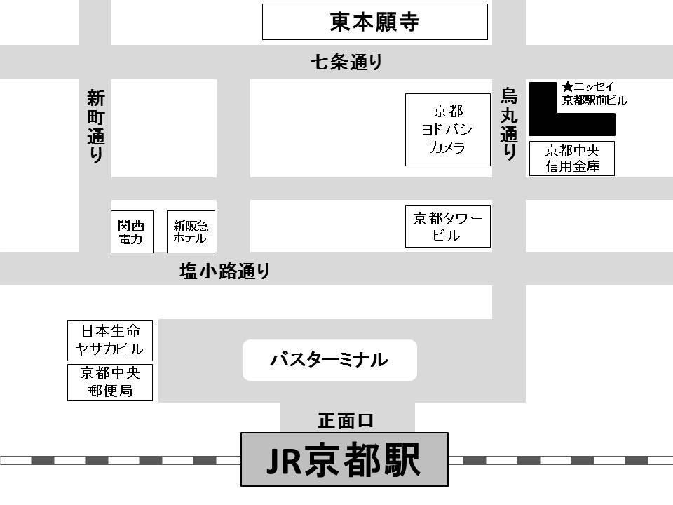 フリュー株式会社<京都事業所> 地図