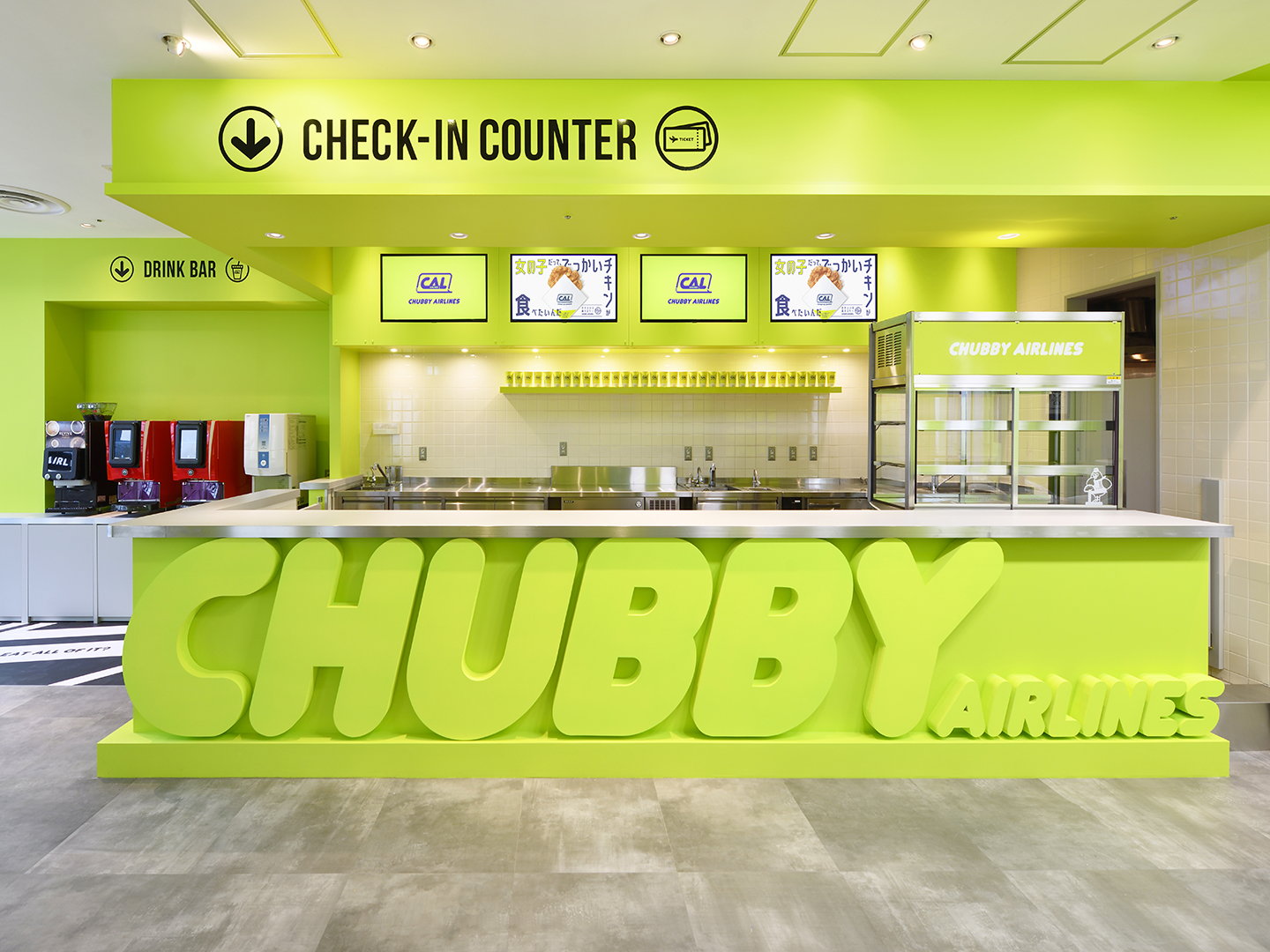 CHUBBY AIRLINESレジカウンター