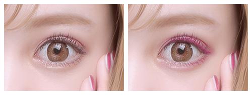 「カラフルeye」愛されピンク使用イメージ