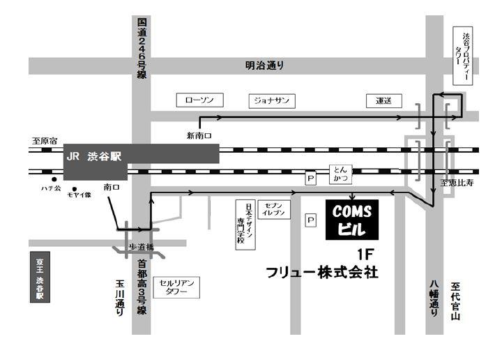 フリュー株式会社<本社> 地図