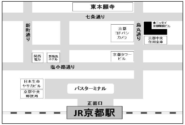 フリュー株式会社<京都> 地図